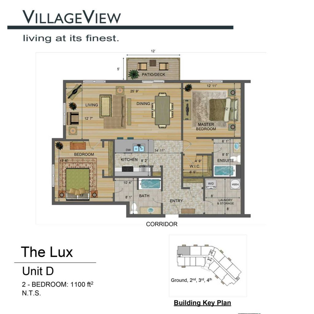 49-Noel-Avenue-Unit-D-Two-Bedroom-Floor-Plan