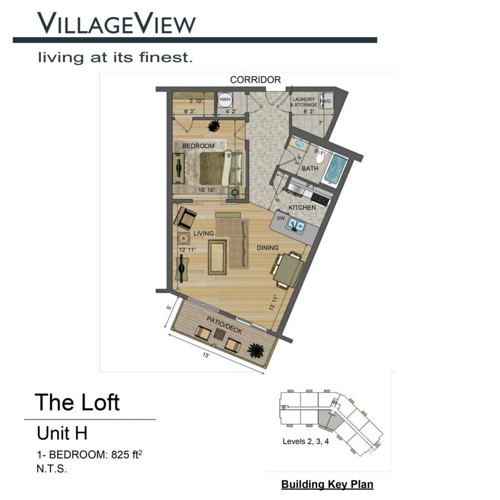 49-Noel-Avenue-Unit-H-One-Bedroom-Floor-Plan